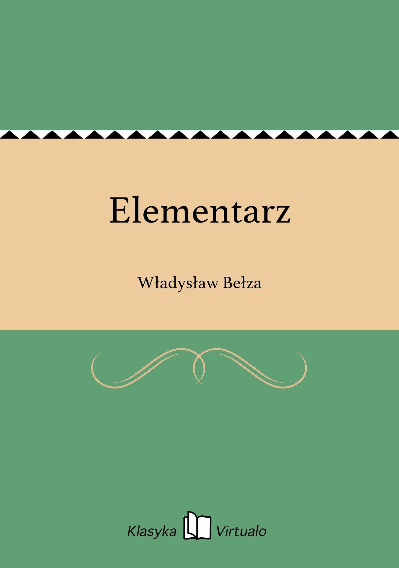 Elementarz - Ebook (Książka EPUB) do pobrania w formacie EPUB