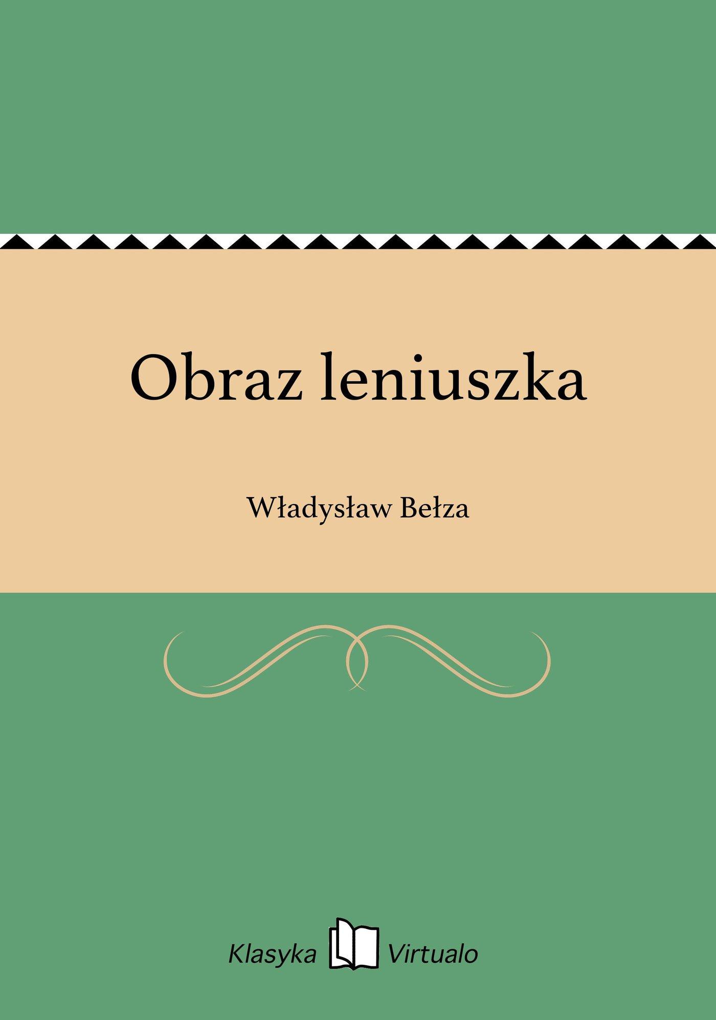 Obraz leniuszka - Ebook (Książka EPUB) do pobrania w formacie EPUB