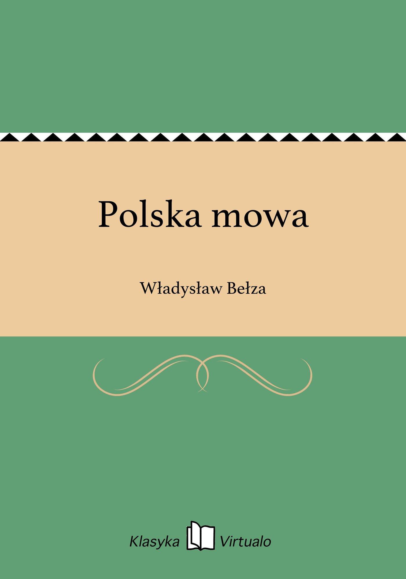 Polska mowa - Ebook (Książka EPUB) do pobrania w formacie EPUB