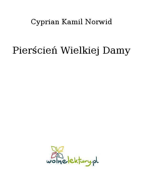 Pierścień Wielkiej Damy - Ebook (Książka EPUB) do pobrania w formacie EPUB