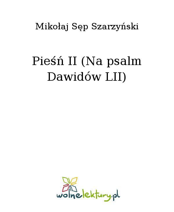 Pieśń II (Na psalm Dawidów LII) - Ebook (Książka EPUB) do pobrania w formacie EPUB