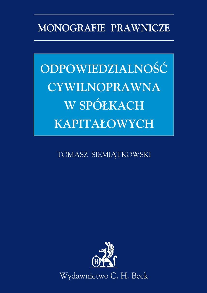 Odpowiedzialność cywilnoprawna w spółkach kapitałowych - Ebook (Książka PDF) do pobrania w formacie PDF