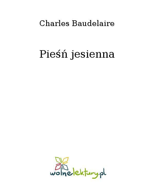Pieśń jesienna - Ebook (Książka EPUB) do pobrania w formacie EPUB