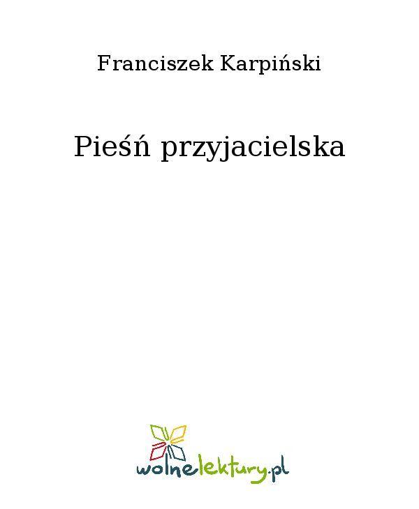 Pieśń przyjacielska - Ebook (Książka EPUB) do pobrania w formacie EPUB