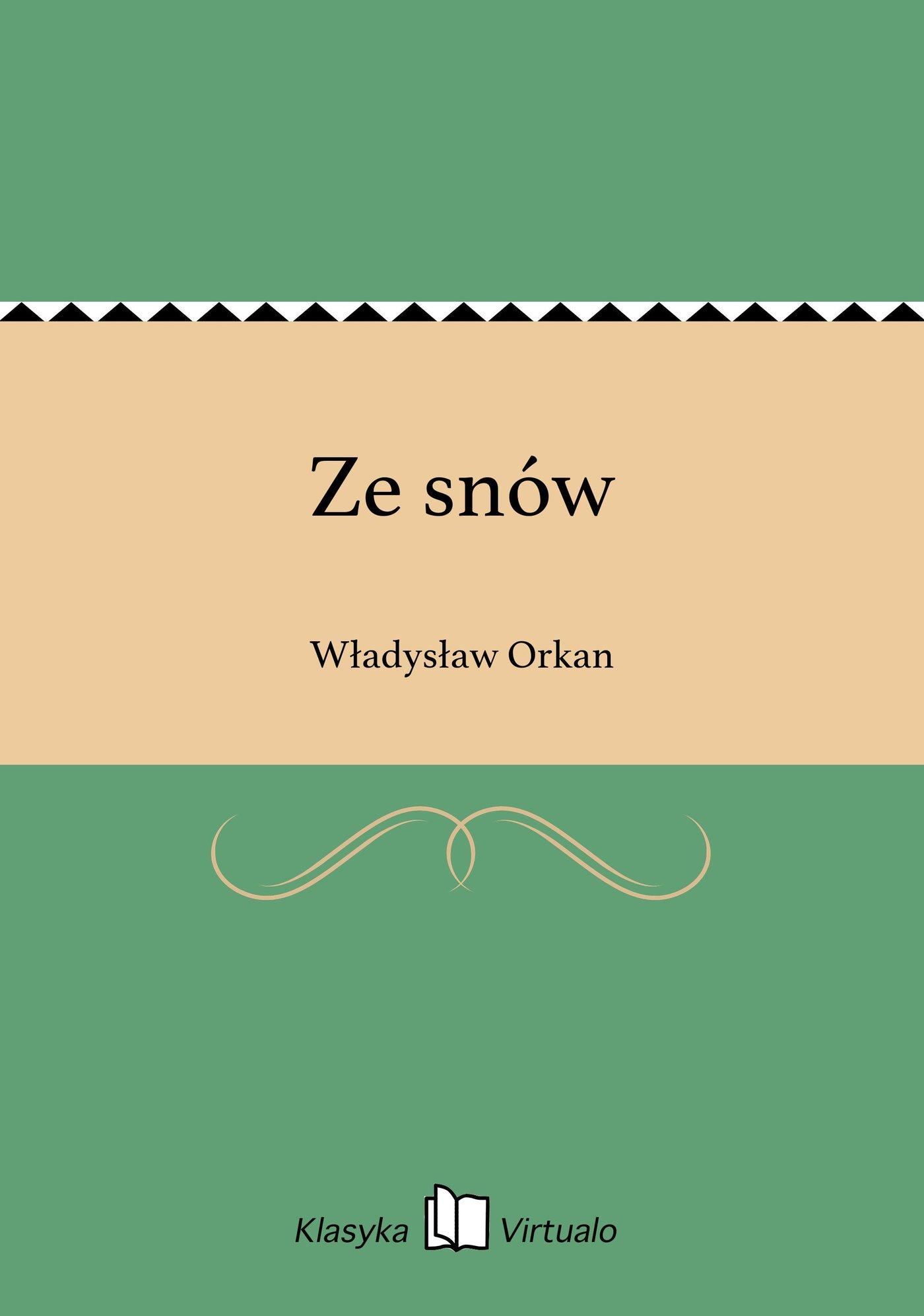 Ze snów - Ebook (Książka EPUB) do pobrania w formacie EPUB