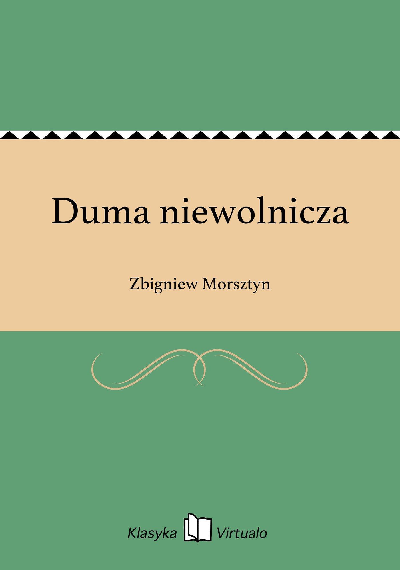Duma niewolnicza - Ebook (Książka EPUB) do pobrania w formacie EPUB