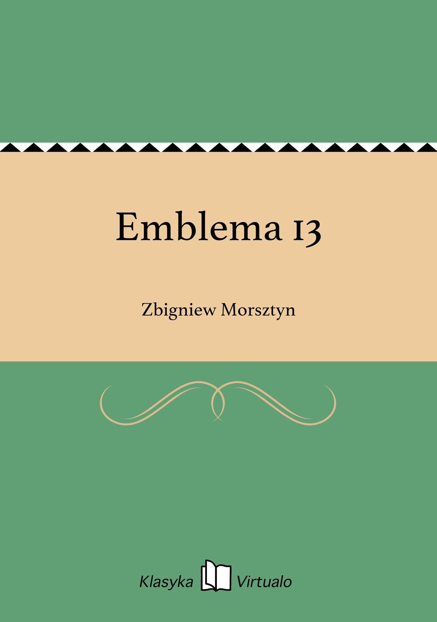 Emblema 13 - Ebook (Książka EPUB) do pobrania w formacie EPUB