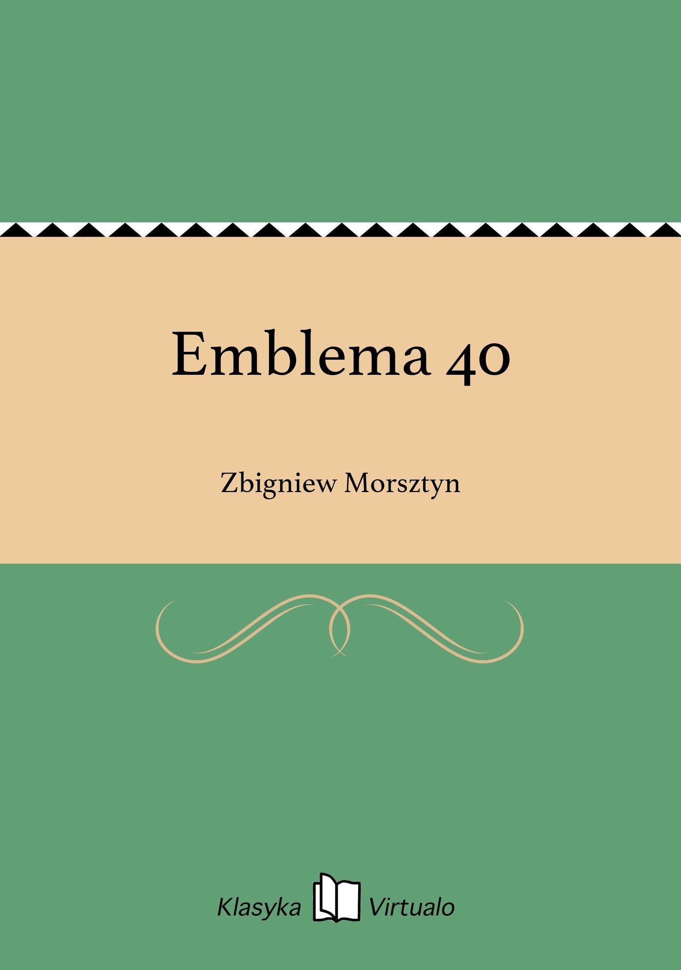 Emblema 40 - Ebook (Książka EPUB) do pobrania w formacie EPUB