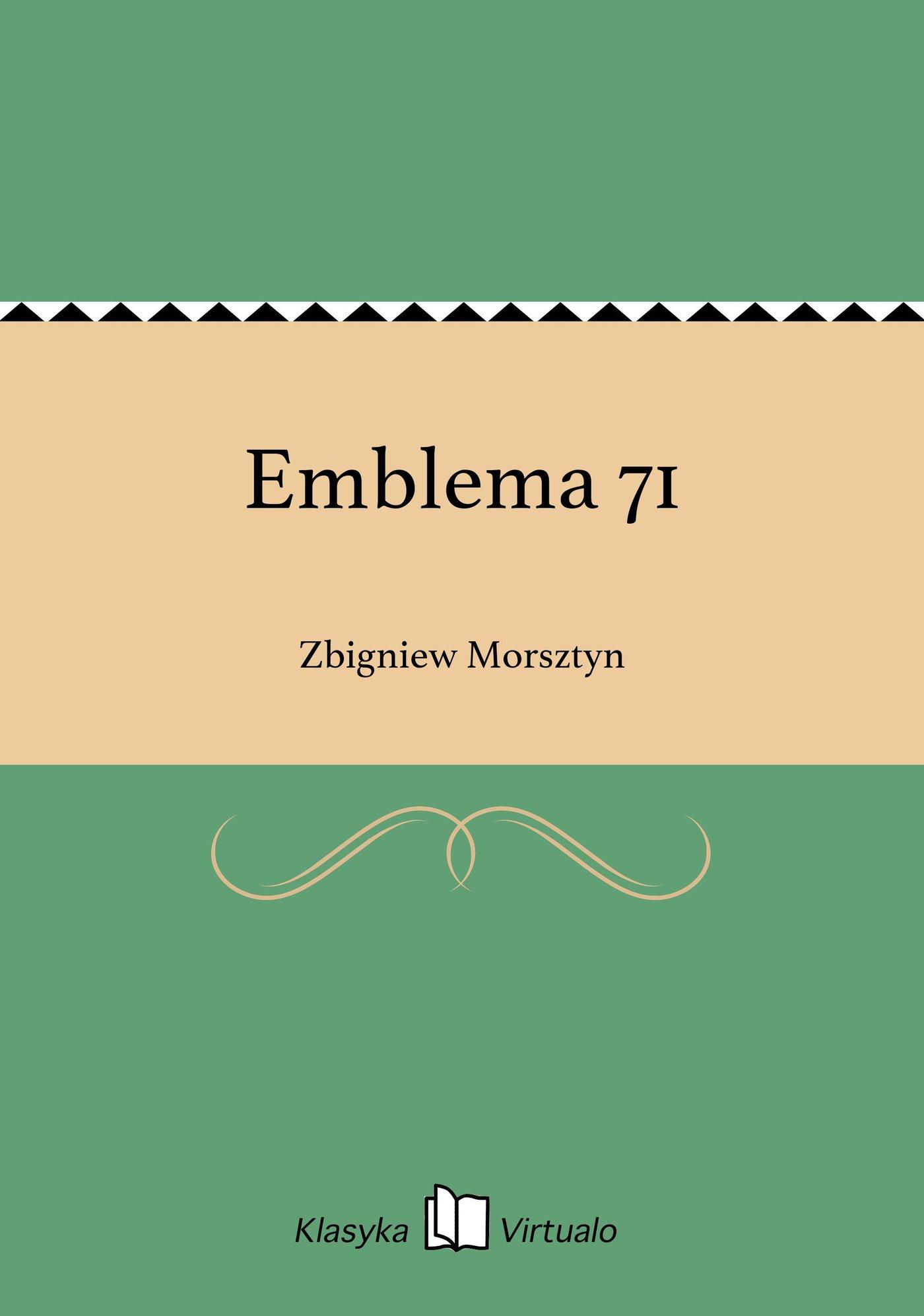 Emblema 71 - Ebook (Książka EPUB) do pobrania w formacie EPUB