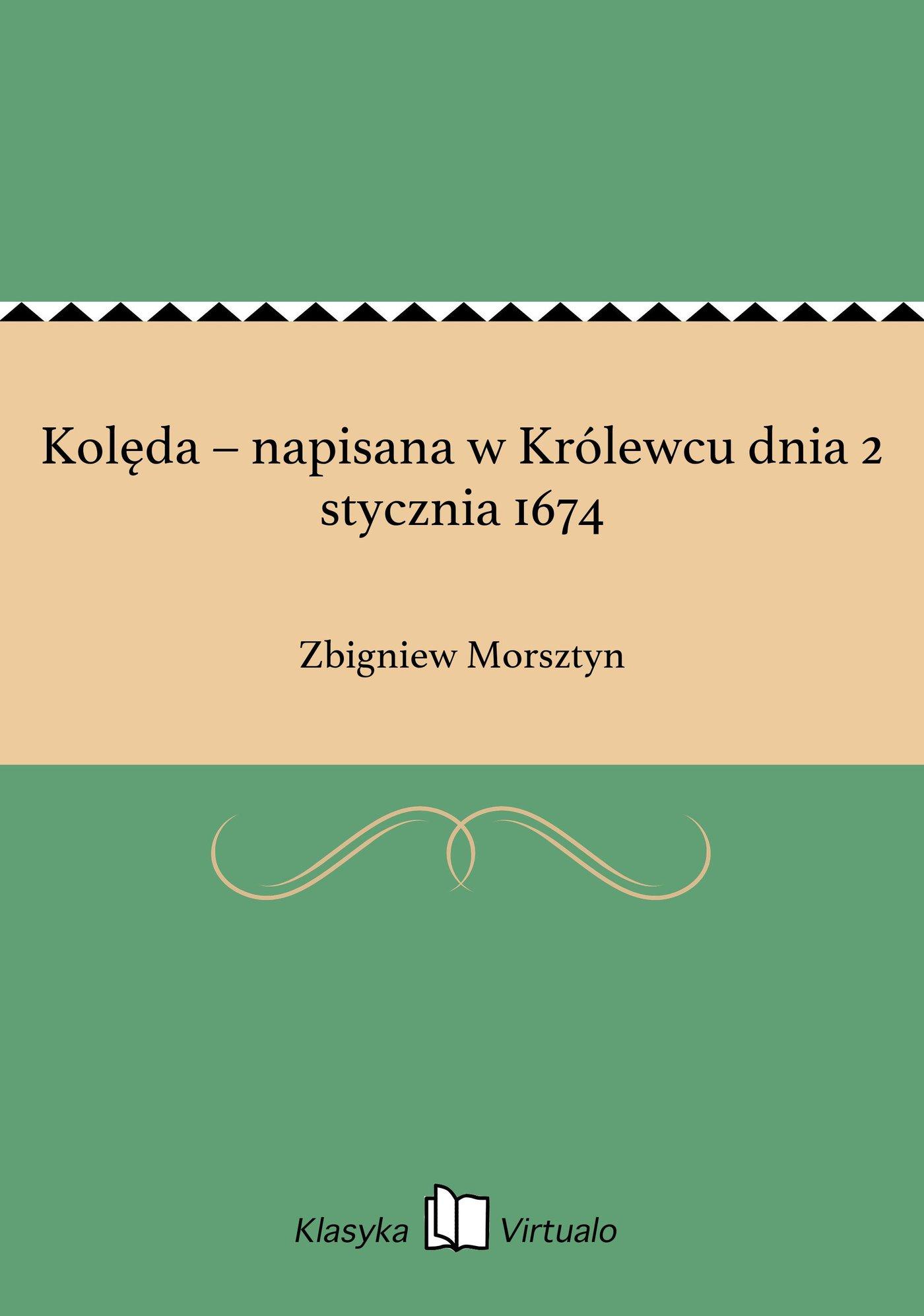 Kolęda – napisana w Królewcu dnia 2 stycznia 1674 - Ebook (Książka EPUB) do pobrania w formacie EPUB