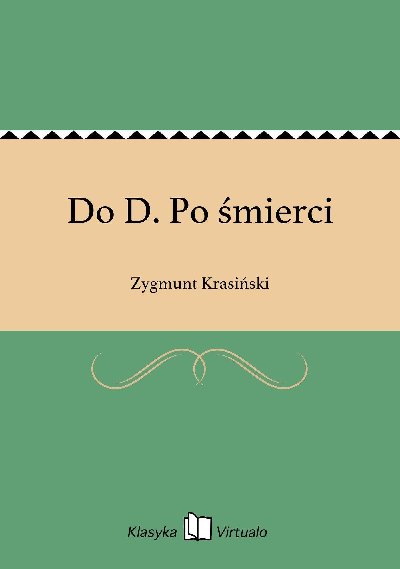 Do D. Po śmierci - Ebook (Książka EPUB) do pobrania w formacie EPUB