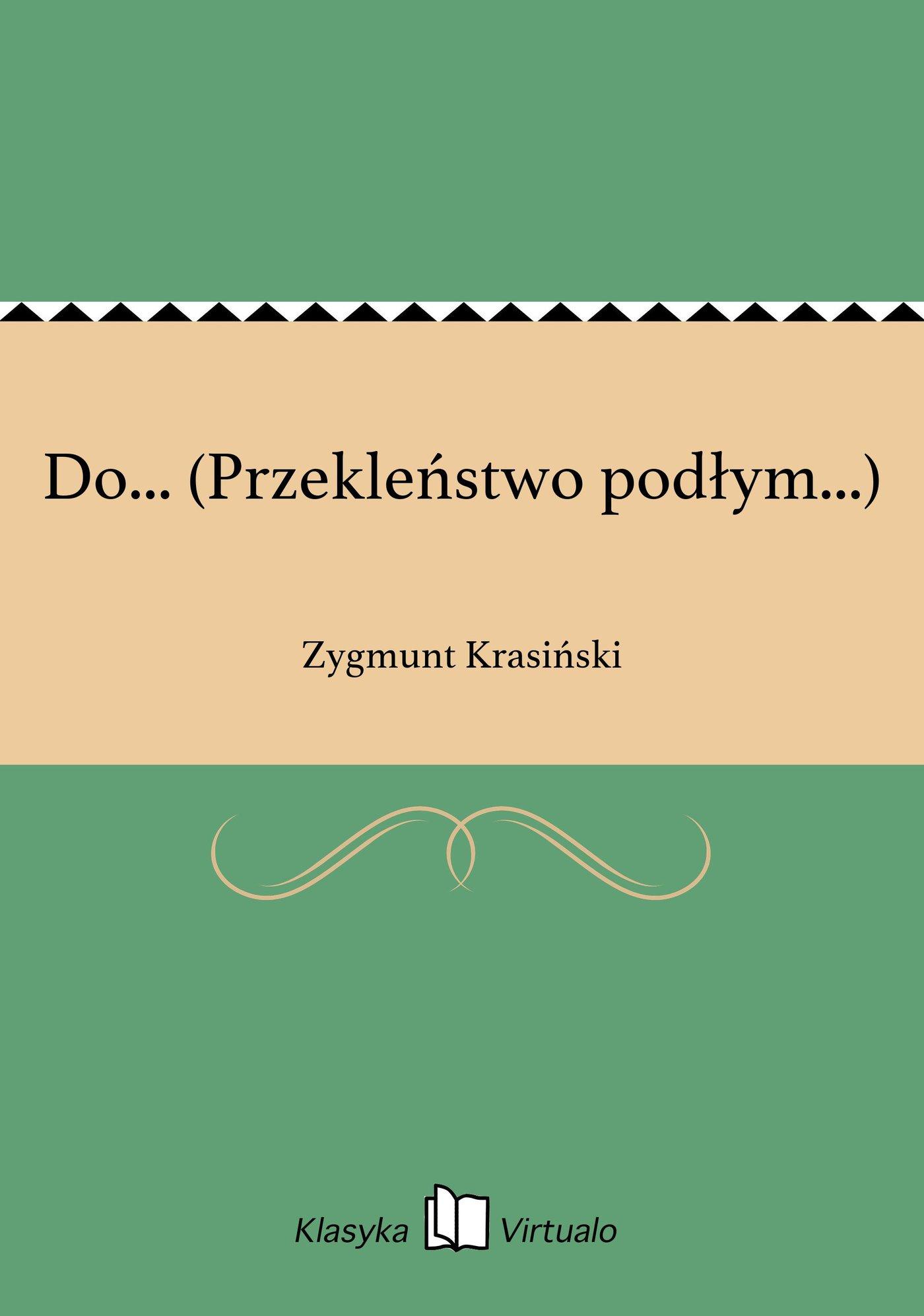 Do... (Przekleństwo podłym...) - Ebook (Książka EPUB) do pobrania w formacie EPUB