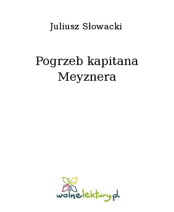 Pogrzeb kapitana Meyznera - Ebook (Książka EPUB) do pobrania w formacie EPUB