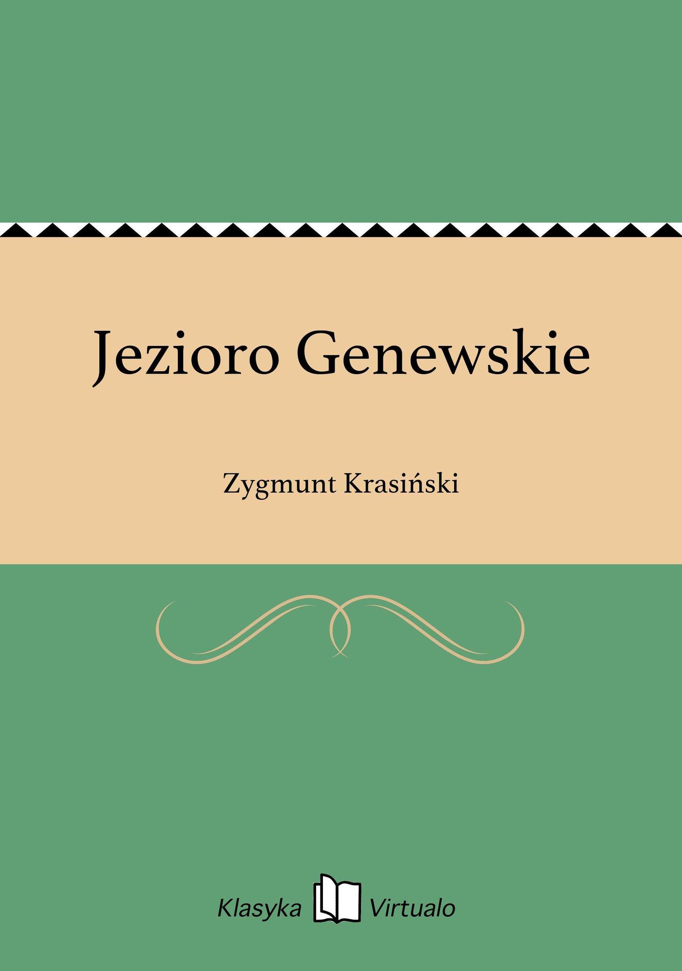 Jezioro Genewskie - Ebook (Książka EPUB) do pobrania w formacie EPUB