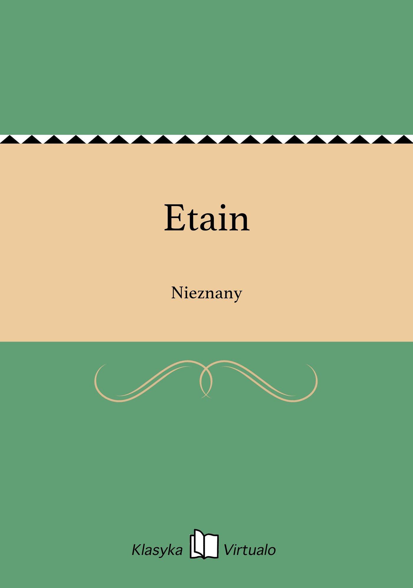 Etain - Ebook (Książka EPUB) do pobrania w formacie EPUB