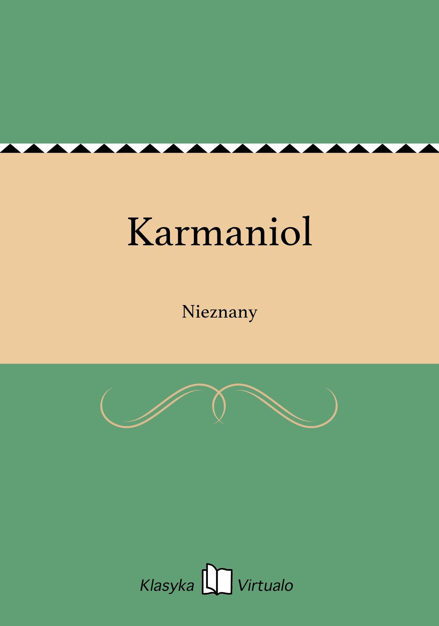 Karmaniol - Ebook (Książka EPUB) do pobrania w formacie EPUB