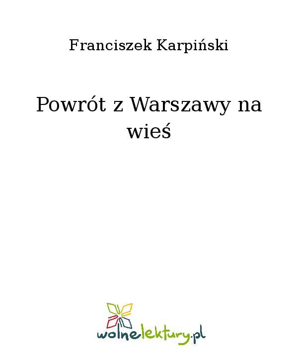 Powrót z Warszawy na wieś - Ebook (Książka EPUB) do pobrania w formacie EPUB