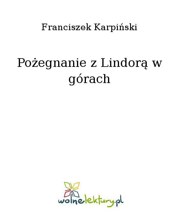 Pożegnanie z Lindorą w górach - Ebook (Książka EPUB) do pobrania w formacie EPUB