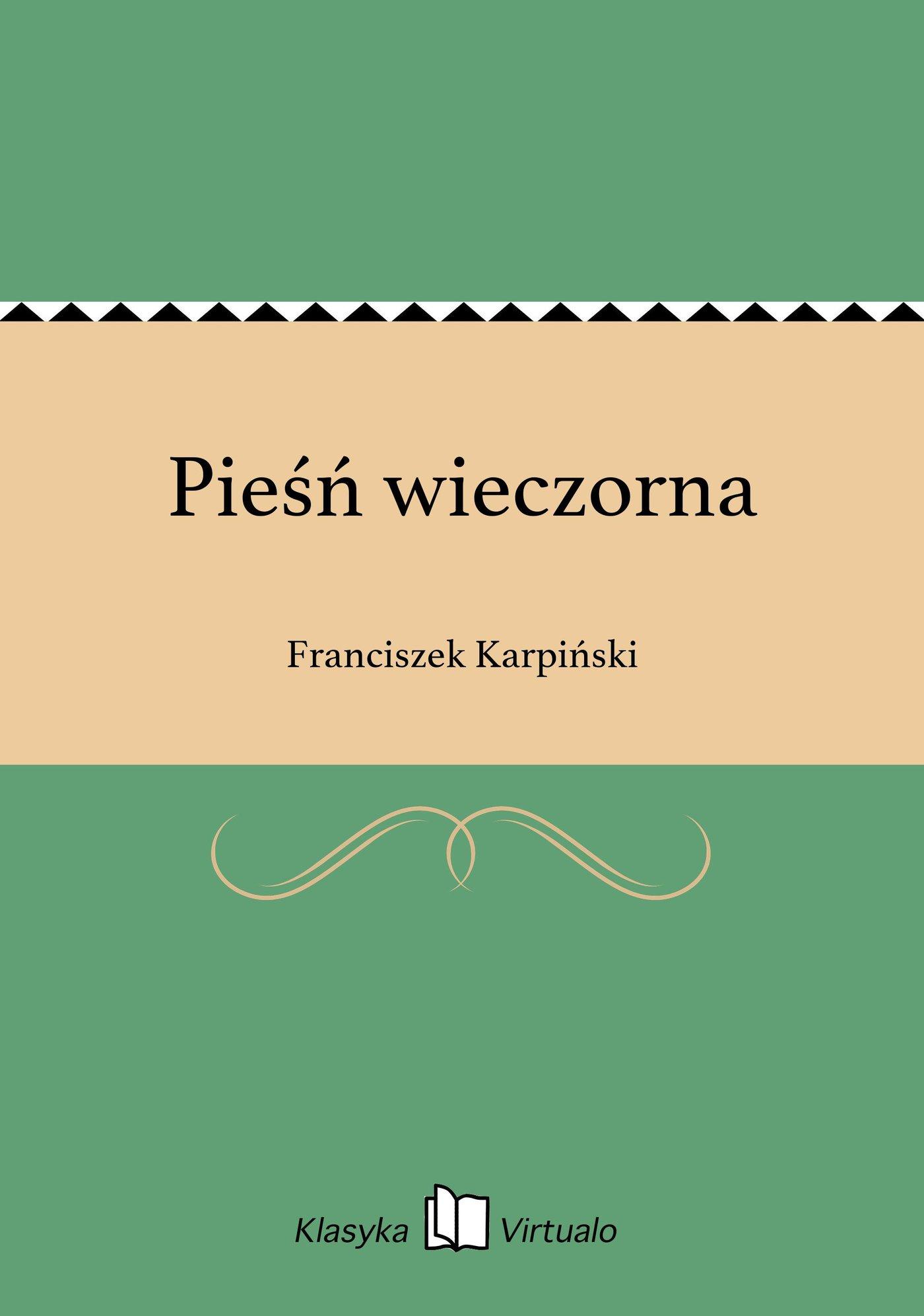 Pieśń wieczorna - Ebook (Książka EPUB) do pobrania w formacie EPUB