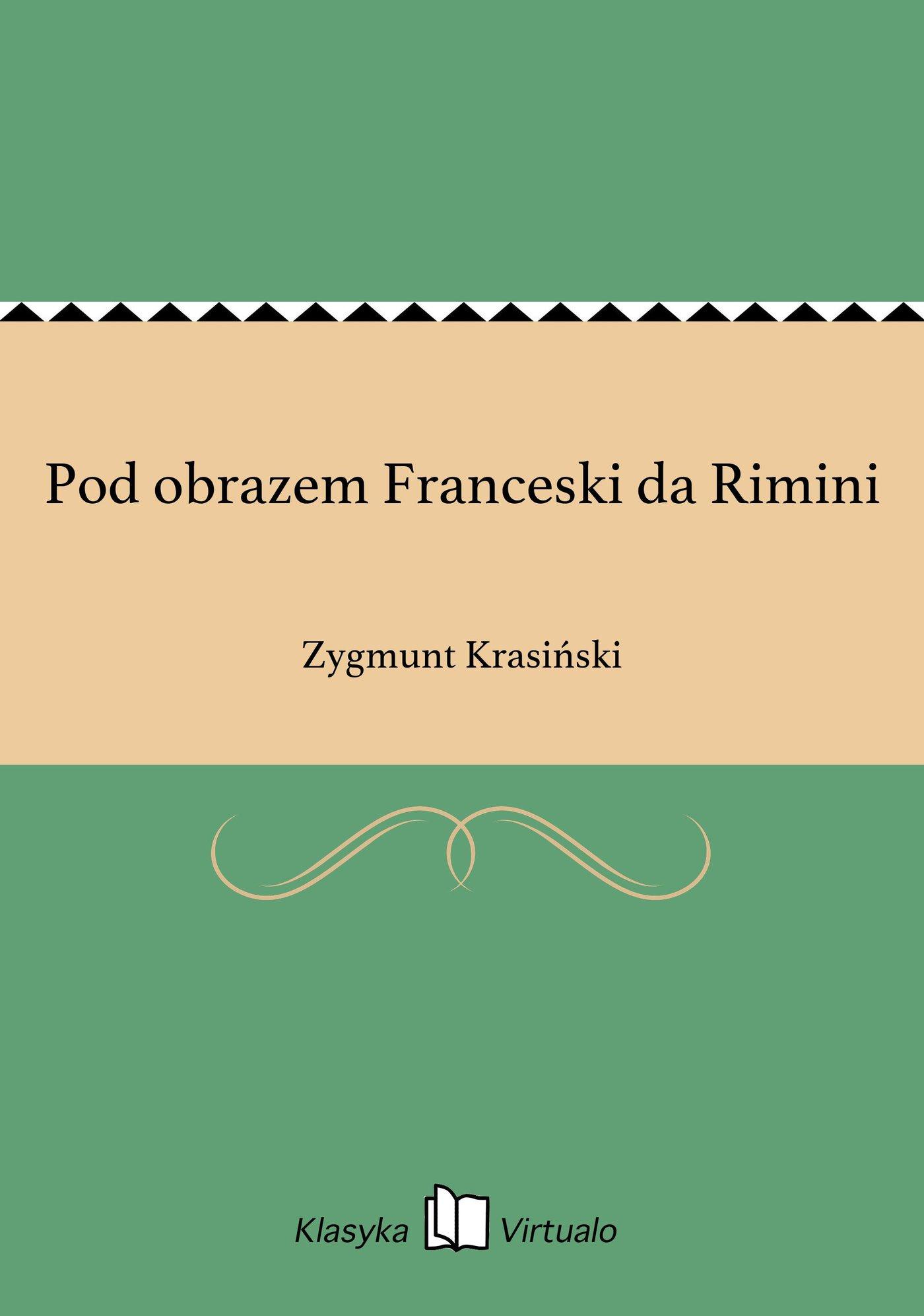 Pod obrazem Franceski da Rimini - Ebook (Książka EPUB) do pobrania w formacie EPUB