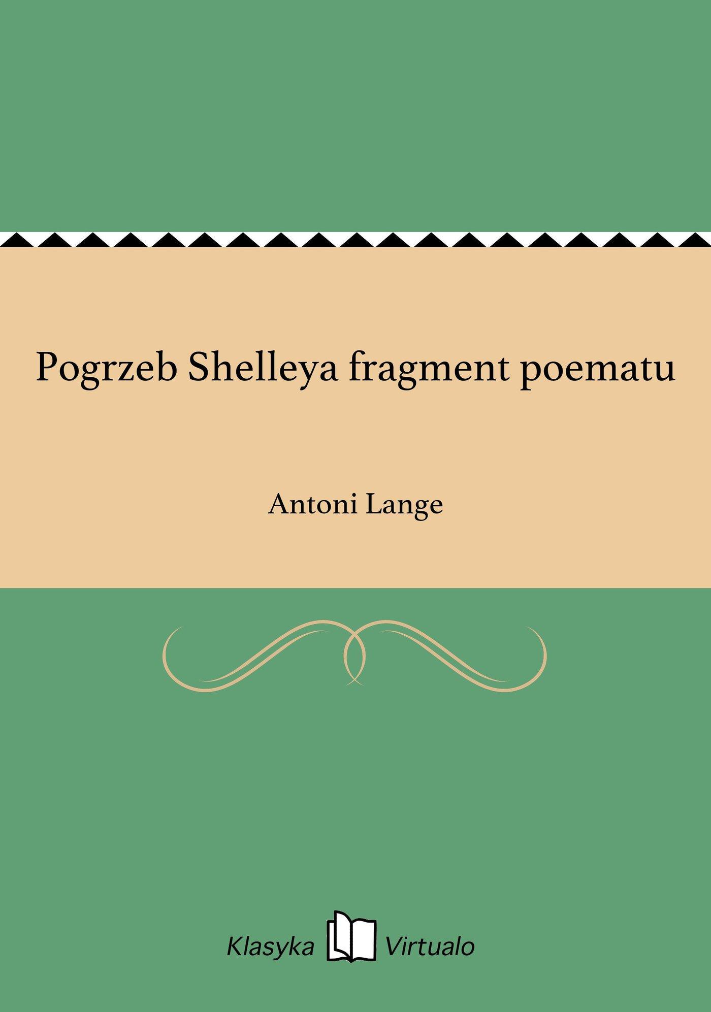 Pogrzeb Shelleya fragment poematu - Ebook (Książka EPUB) do pobrania w formacie EPUB