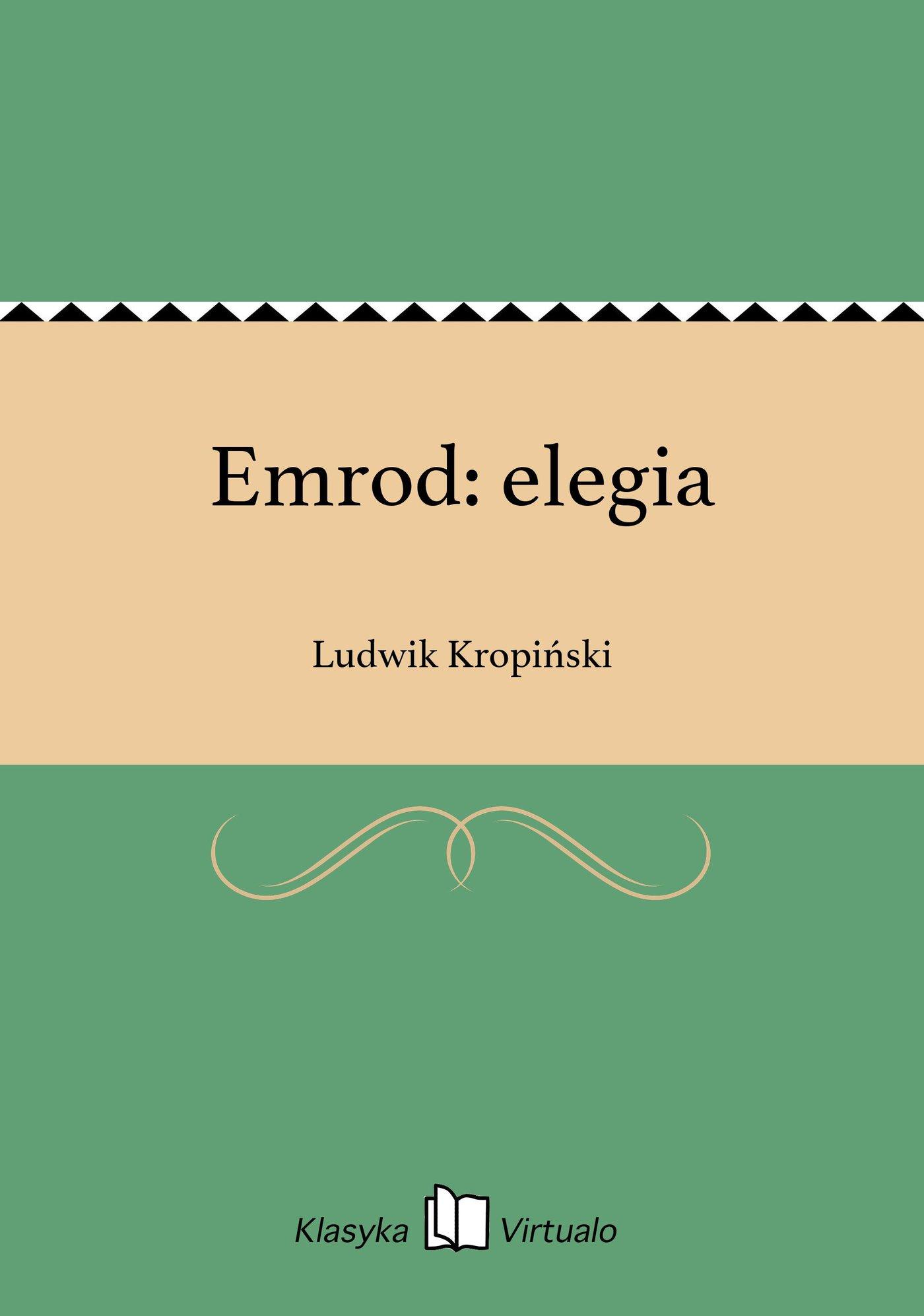 Emrod: elegia - Ebook (Książka EPUB) do pobrania w formacie EPUB