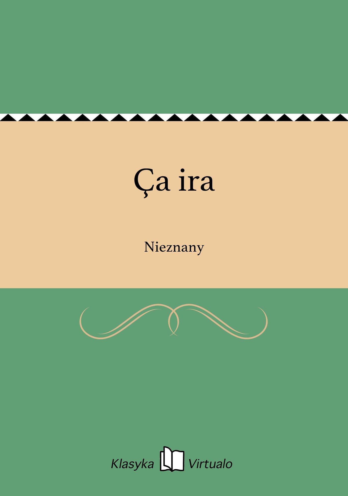 Ça ira - Ebook (Książka EPUB) do pobrania w formacie EPUB