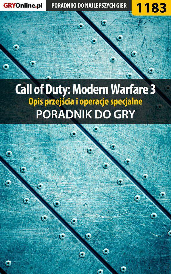 Call of Duty: Modern Warfare 3 - opis przejścia i operacje specjalne - poradnik do gry - Ebook (Książka PDF) do pobrania w formacie PDF