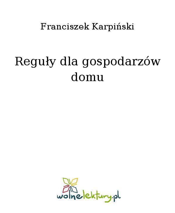 Reguły dla gospodarzów domu - Ebook (Książka EPUB) do pobrania w formacie EPUB
