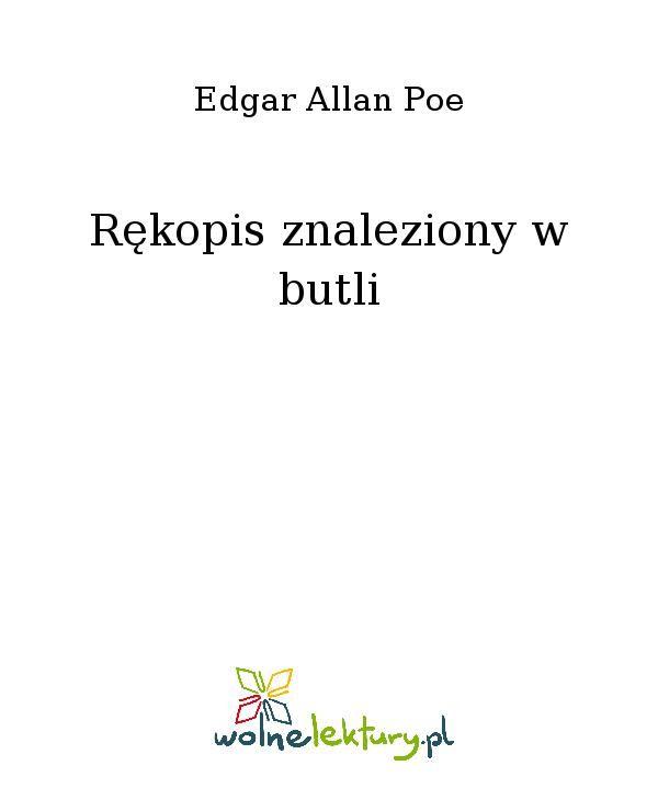 Rękopis znaleziony w butli - Ebook (Książka EPUB) do pobrania w formacie EPUB