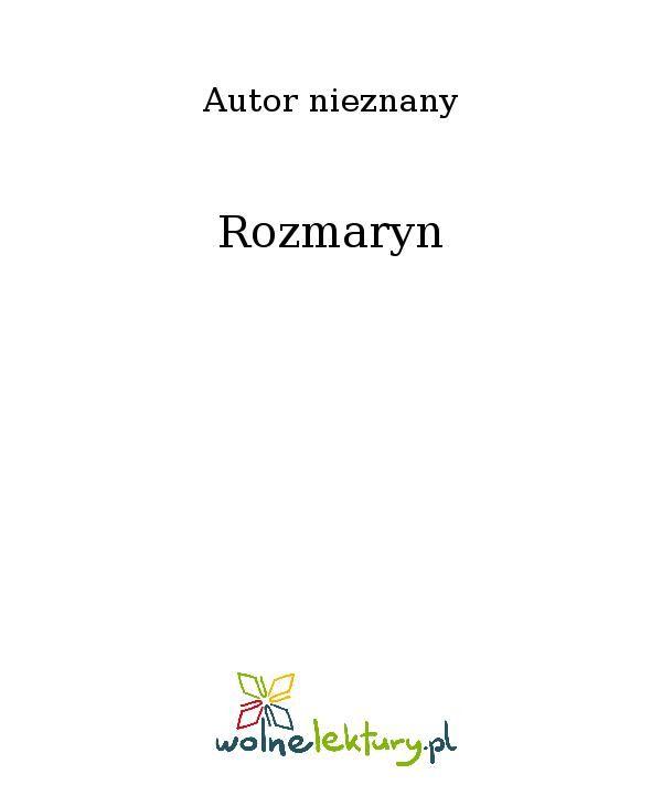 Rozmaryn - Ebook (Książka EPUB) do pobrania w formacie EPUB