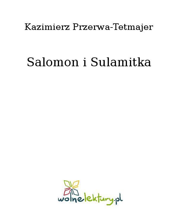 Salomon i Sulamitka - Ebook (Książka EPUB) do pobrania w formacie EPUB