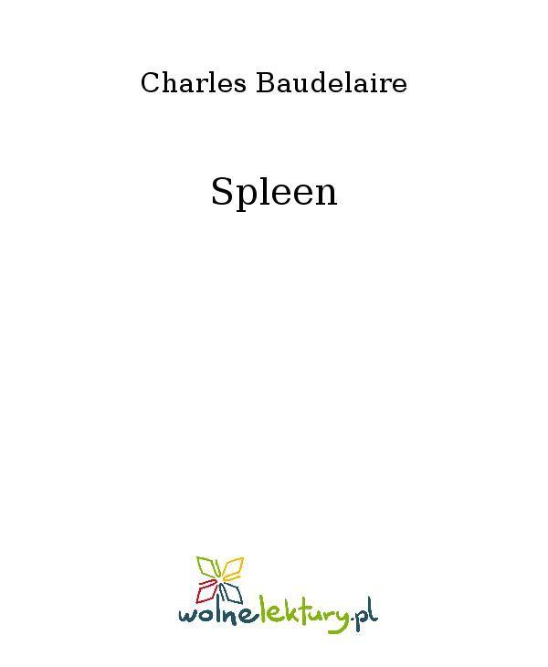 Spleen - Ebook (Książka EPUB) do pobrania w formacie EPUB