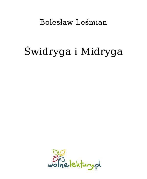 Świdryga i Midryga - Ebook (Książka EPUB) do pobrania w formacie EPUB