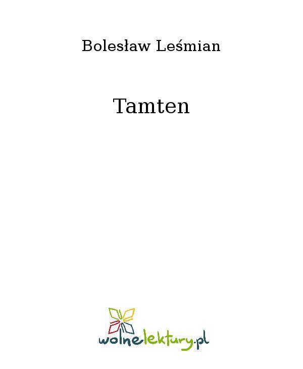 Tamten - Ebook (Książka EPUB) do pobrania w formacie EPUB