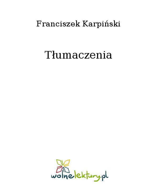 Tłumaczenia - Ebook (Książka EPUB) do pobrania w formacie EPUB
