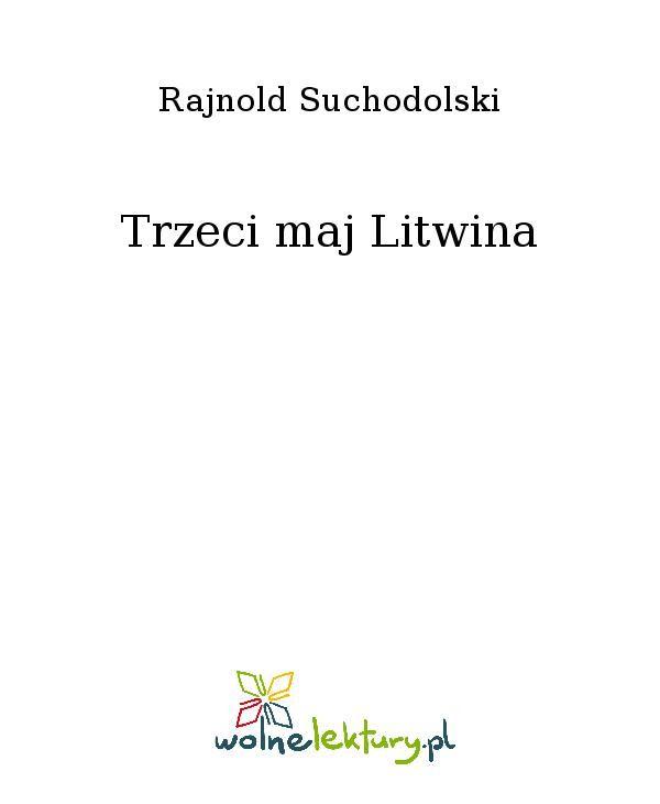 Trzeci maj Litwina - Ebook (Książka EPUB) do pobrania w formacie EPUB