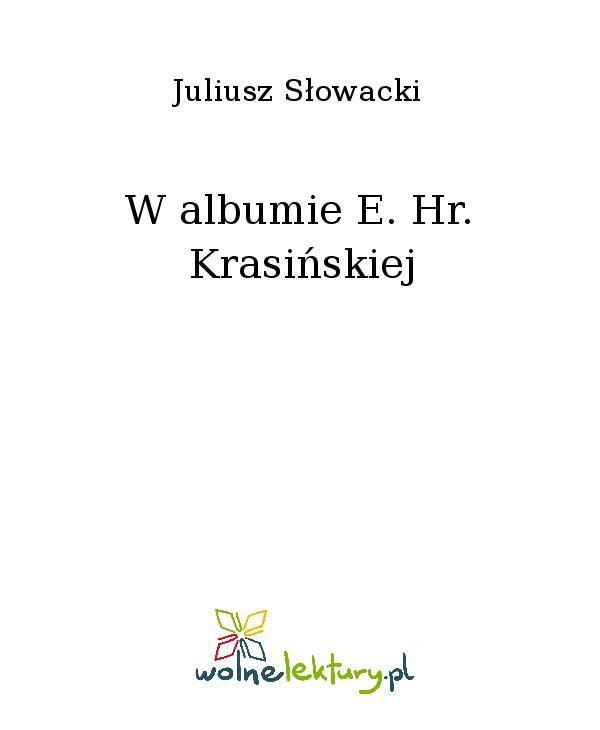 W albumie E. Hr. Krasińskiej - Ebook (Książka EPUB) do pobrania w formacie EPUB