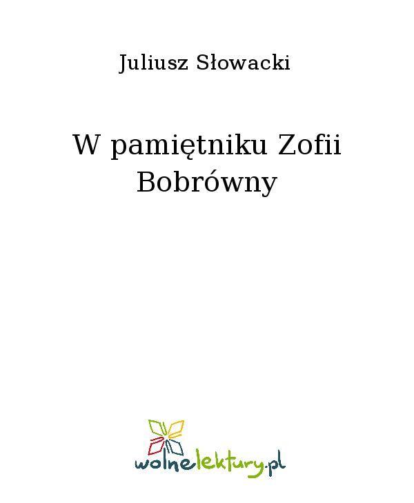 W pamiętniku Zofii Bobrówny - Ebook (Książka EPUB) do pobrania w formacie EPUB