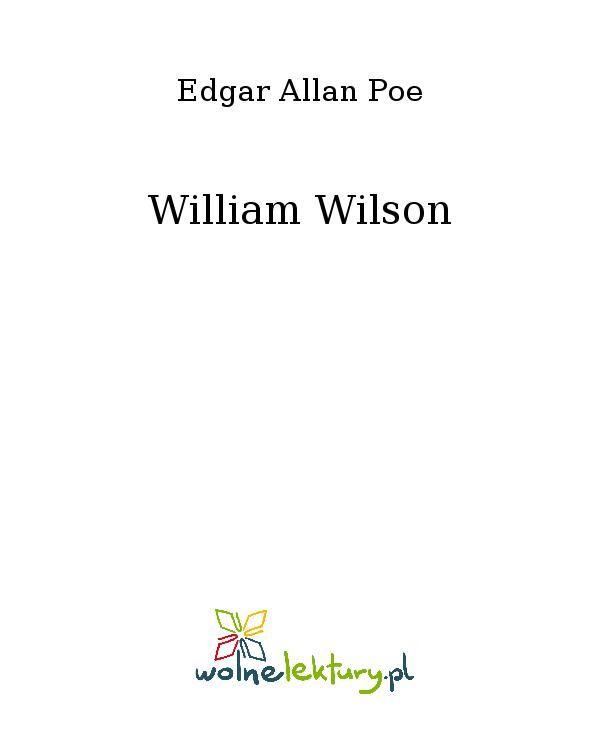 William Wilson - Ebook (Książka EPUB) do pobrania w formacie EPUB