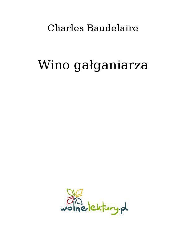 Wino gałganiarza - Ebook (Książka EPUB) do pobrania w formacie EPUB