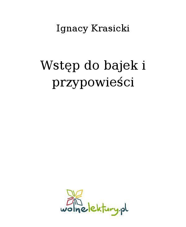 Wstęp do bajek i przypowieści - Ebook (Książka EPUB) do pobrania w formacie EPUB