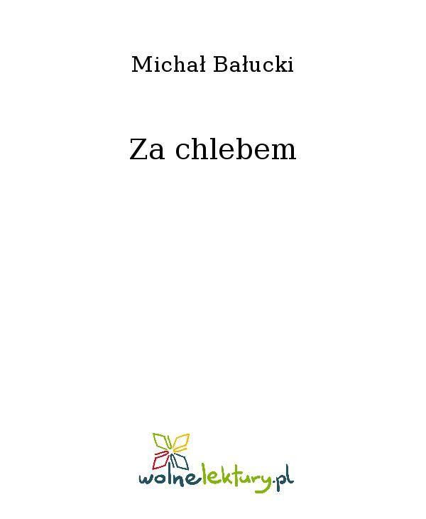 Za chlebem - Ebook (Książka EPUB) do pobrania w formacie EPUB