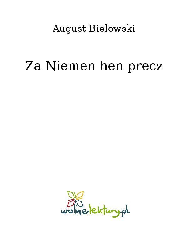 Za Niemen hen precz - Ebook (Książka EPUB) do pobrania w formacie EPUB