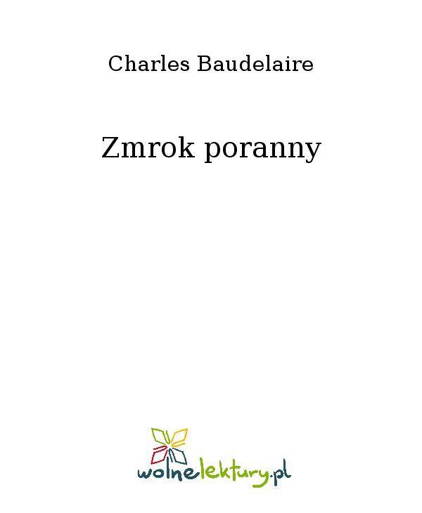 Zmrok poranny - Ebook (Książka EPUB) do pobrania w formacie EPUB