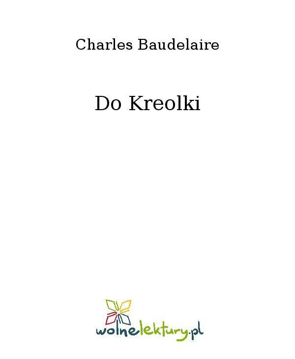 Do Kreolki - Ebook (Książka EPUB) do pobrania w formacie EPUB