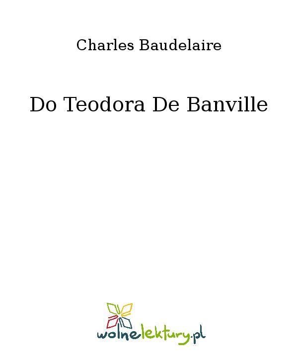 Do Teodora De Banville - Ebook (Książka EPUB) do pobrania w formacie EPUB