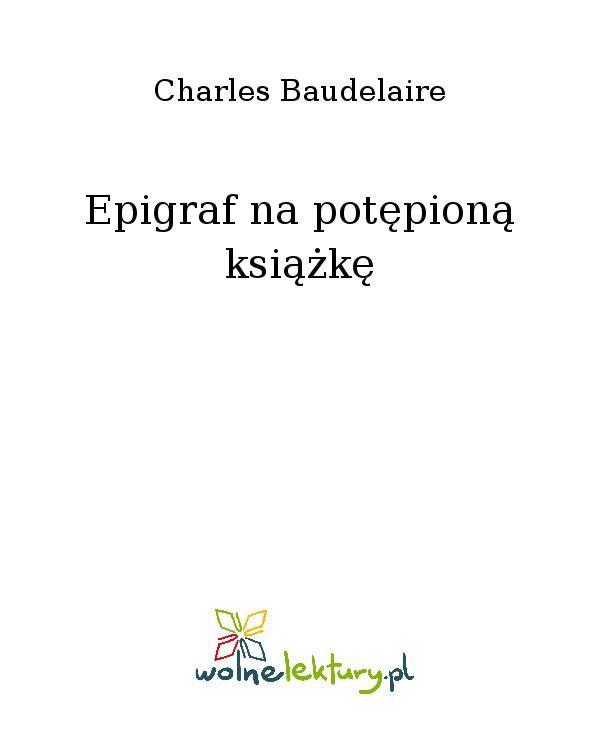 Epigraf na potępioną książkę - Ebook (Książka EPUB) do pobrania w formacie EPUB