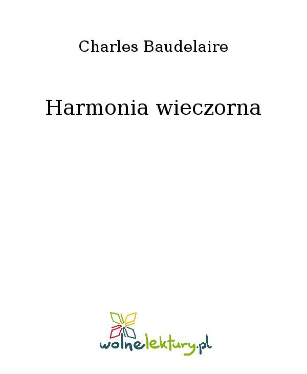 Harmonia wieczorna - Ebook (Książka EPUB) do pobrania w formacie EPUB