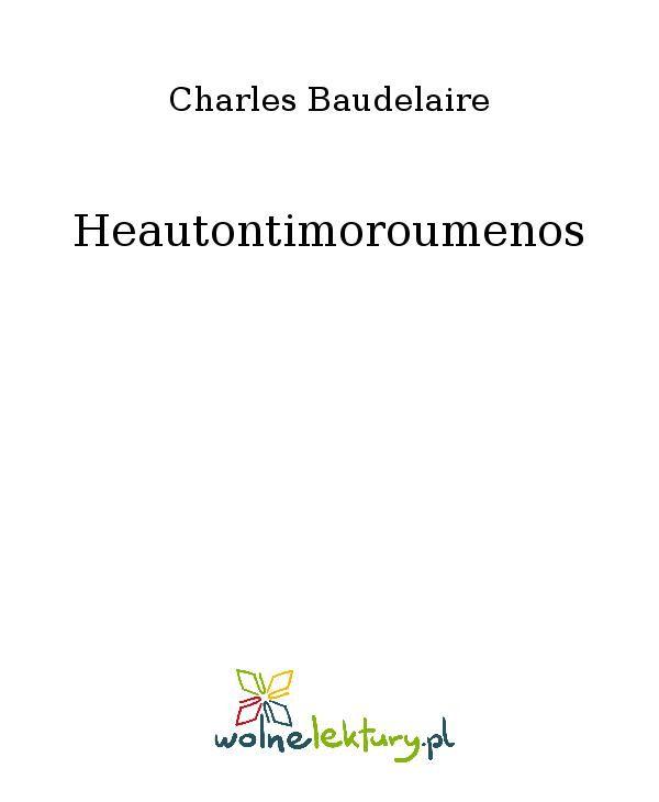 Heautontimoroumenos - Ebook (Książka EPUB) do pobrania w formacie EPUB